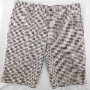 Perry Ellis Tan Plaid Check Gingham Shorts